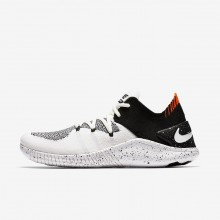 Nike Free TR Flyknit 3 Training Shoes For Women White/Black 847IQSZG