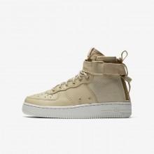 Nike SF Air Force 1 Mid Lifestyle Shoes For Boys Mushroom/Light Bone 862UWPIA