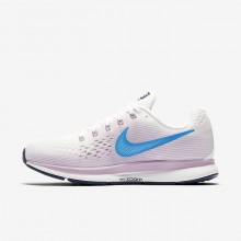 Nike Air Zoom Pegasus 34 Running Shoes For Women Summit White/Elemental Rose/Thunder Blue/Equator Blue 613LSGYW