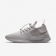 Nike Free RN Commuter 2017 DX Running Shoes For Women Vast Grey/Arctic Pink 649QTOEJ