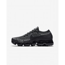 Nike Air VaporMax Flyknit Running Shoes For Women Black/White/Racer Blue 512DCURI