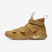 Nike LeBron Soldier XI SFG Basketball Shoes For Women Mineral Gold/Metallic Gold 680DRTZG