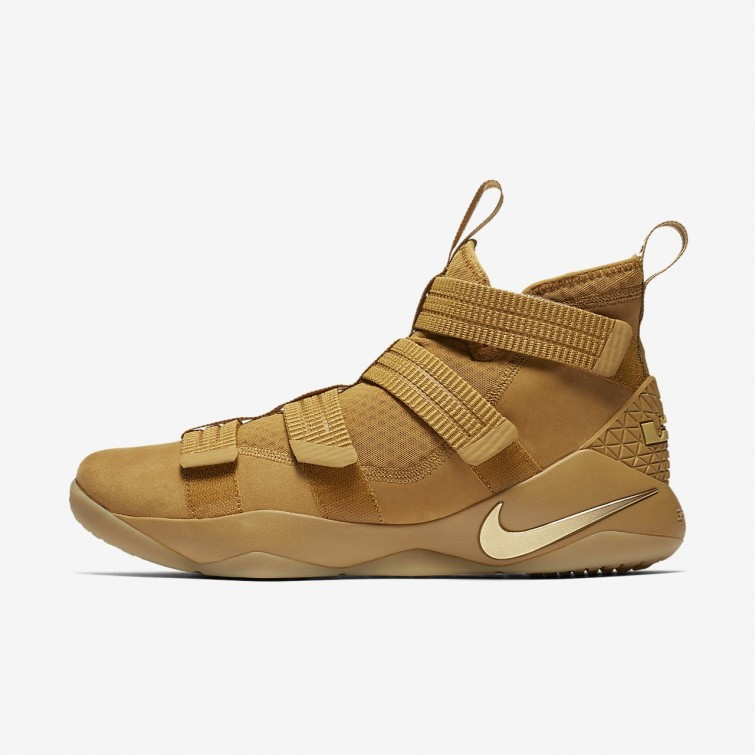 Nike LeBron Soldier XI Basketball Shoes Womens Mineral Gold Metallic Gold  418GDUCW bfbb477df6