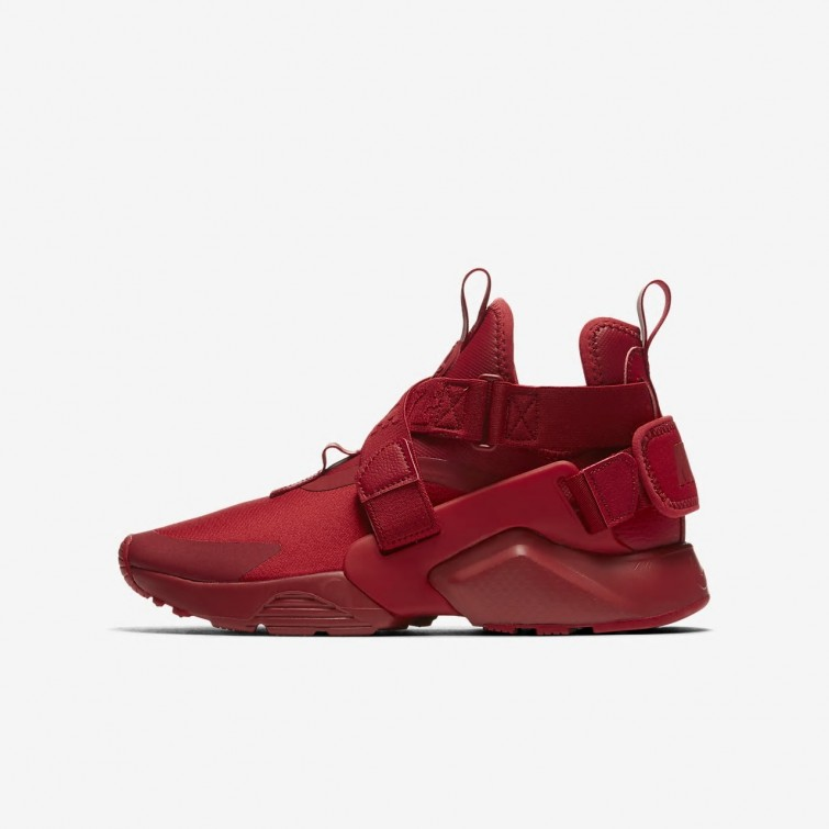 Chaussure Casual Nike Huarache City Garcon Rouge/Blanche/Noir 267GEHZN
