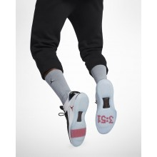 Tenis Basquete Nike Air Jordan XXXII Low Homem Pretas/Branco/Vermelhas 498VFAYO