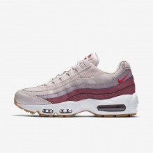 Nike Air Max 95 OG Lifestyle Shoes For Women Barely Rose/Vintage Wine/White/Hot Punch 965ANMEK