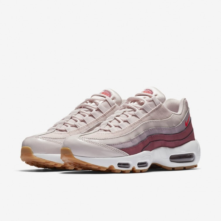 cd4cf5a9a93ff2 ... Nike Air Max 95 OG Lifestyle Shoes For Women Barely Rose Vintage Wine  White