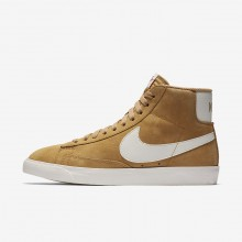 Nike Blazer Mid Vintage Lifestyle Shoes For Women Elemental Gold/Sail/Black 906WXFSM
