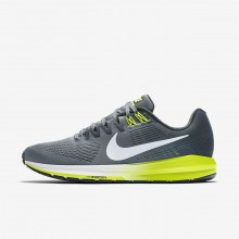 Nike Air Zoom Structure 21 Running Shoes For Men Cool Grey/Anthracite/Volt/White 457YSRHB
