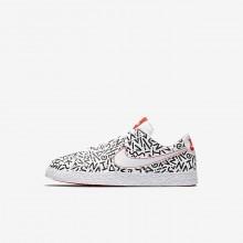 Nike Blazer Low QS Lifestyle Shoes For Boys White/Black/Bright Crimson 264WZCPH