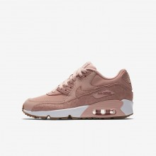 Zapatillas Casual Nike Air Max 90 SE Leather Niña Coral/Blancas/Marrones Claro/Rosas 244EPHXD