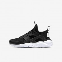 Nike Air Huarache Ultra Lifestyle Shoes For Boys Black/White 564NVMCT