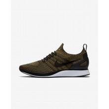 Nike Air Zoom Mariah Flyknit Racer Lifestyle Shoes For Men Black/Desert Moss 882ZYGHX