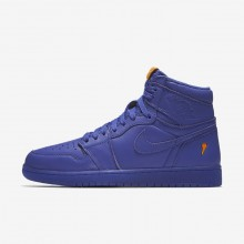 Zapatillas Casual Nike Air Jordan 1 Retro High OG Grape Hombre Azules Oscuro 962ZWJPI