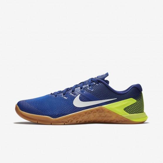 Nike Metcon 4 Training Shoes For Men Volt/Racer Blue/Gum Medium Brown/White 239EBPNA