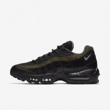 Nike Air Max 95 HAL Lifestyle Shoes For Men Black/Cargo Khaki/Flat Silver 227MAPER