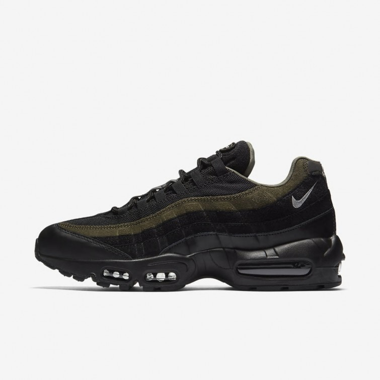low priced 0ebfa 67cc2 Nike Air Max 95 HAL Lifestyle Shoes For Men Black Cargo Khaki Flat Silver