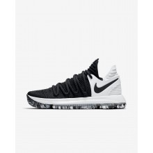 Nike Zoom KDX Basketball Shoes For Women Black/White 570SXAWP