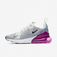 Nike Air Max 270 Lifestyle Shoes For Women Barely Grey/Light Pumice/Fuchsia Blast/Black 987YDUAO