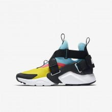 Nike Huarache Lifestyle Shoes Boys Tour Yellow/Bleached Aqua/Racer Pink/Anthracite 265BTQMC