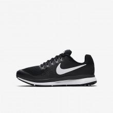 Nike Zoom Pegasus 34 Laufschuhe Jungen Schwarz/DunkelGrau/Weiß 317QGBRY