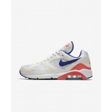 Nike Air Max 180 Lifestyle Shoes For Men White/Solar Red/Ultramarine 403DAHZB