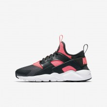 Nike Air Huarache Ultra Lifestyle Shoes For Boys Anthracite/White/Hot Punch 284DJLUH