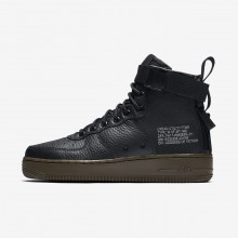 Nike SF Air Force 1 Mid Lifestyle Shoes For Women Black/Dark Hazel 589EMGRX