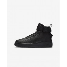 Nike SF Air Force 1 Mid Lifestyle Shoes For Boys Black 682SJLBE