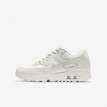 Nike Air Max 90 Mesh Lifestyle Shoes For Girls Sail/Igloo 459SRTVZ