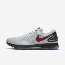 Nike Zoom All Out Low 2 Laufschuhe Herren Platin/Schwarz/Rot 225NLCQY