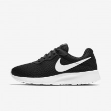 Nike Tanjun Lifestyle Shoes For Women Black/White 426ZICKL