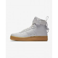 Nike SF Air Force 1 Mid Lifestyle Shoes For Women Vast Grey/Gum Light Brown 536QXZWO