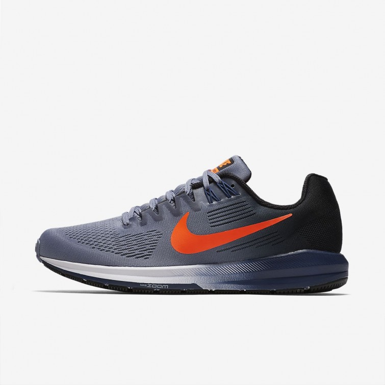 e9eb76f78c2f6 Nike Air Zoom Structure 21 Running Shoes For Men Dark Sky Blue Black Navy