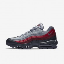 Nike Air Max 95 Essential Lifestyle Shoes For Men Anthracite/Wolf Grey/Team Red/Cool Grey 217CRHBX