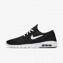 Nike SB Stefan Janoski Max Skateboarding Shoes For Men Black/White 210SRIEH