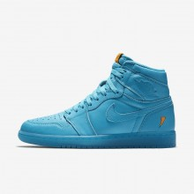 Nike Air Jordan 1 Retro High OG Cool Blue Lifestyle Shoes For Men Blue Lagoon 633TKWBL