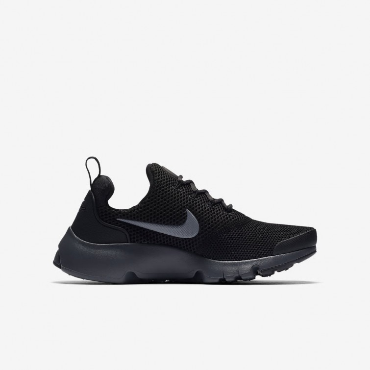 reputable site fd3fb 109a8 ... Nike Presto Fly Lifestyle Shoes For Boys Black Anthracite 365XQIEJ ...