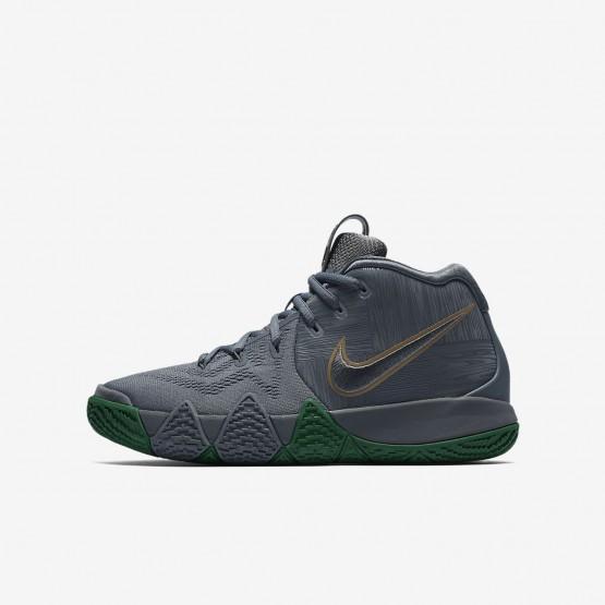 Nike Kyrie 4 Basketball Shoes For Boys Flat Silver/Metallic Gold 766IVGWQ