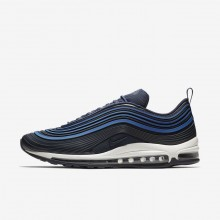 Nike Air Max 97 Ultra 17 Premium Lifestyle Shoes For Men Navy/Sail/Obsidian 777AQREZ