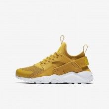 Nike Air Huarache Ultra Lifestyle Shoes For Boys Mineral Yellow/Pure Platinum/Vivid Sulfur 761IMEVJ