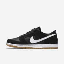 Nike SB Dunk Low Pro Skateboarding Shoes For Men Black/Gum Light Brown/White 469QMAKH