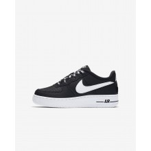 Zapatillas Casual Nike Air Force 1 LV8 NBA Niño Negras/Blancas 262XGLKH