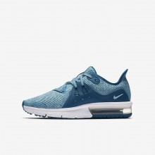 Nike Air Max Sequent 3 Running Shoes For Girls Green Abyss/Bleached Aqua/White/Igloo 500BQRWV