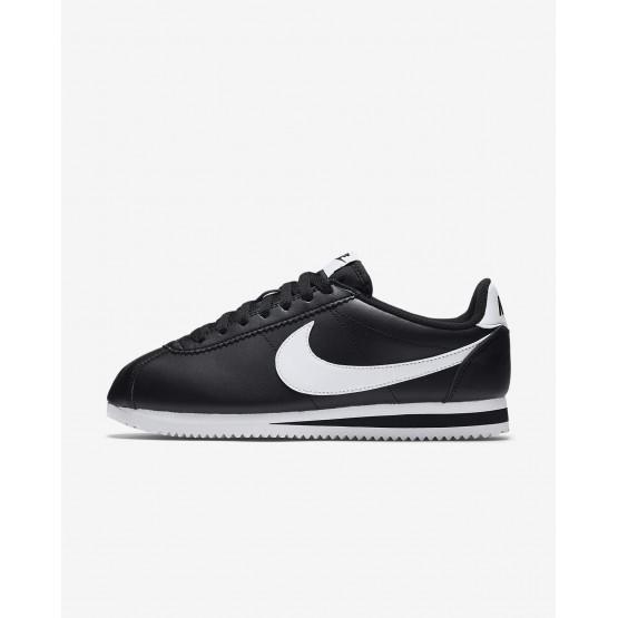 Zapatillas Casual Nike Classic Cortez Mujer Negras/Blancas 333OERTY