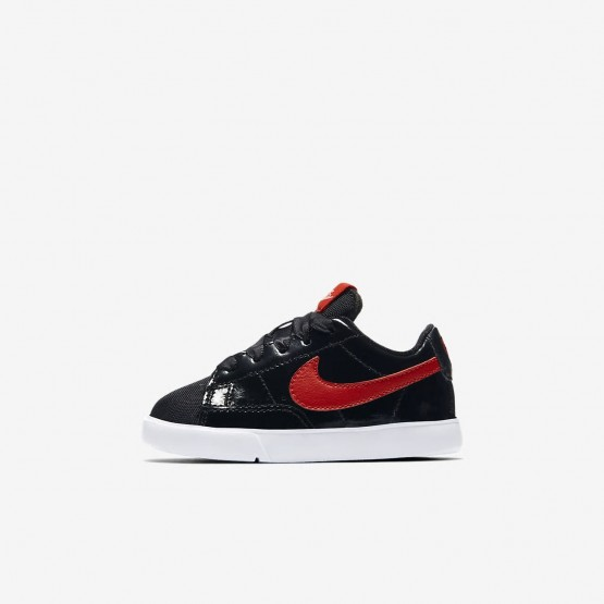 Nike Blazer Low QS Lifestyle Shoes For Girls Black/Bleached Coral/Speed Red 456DPSLG