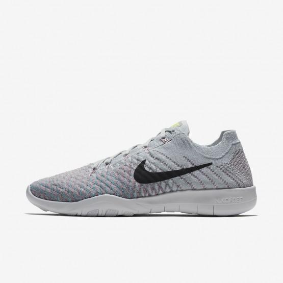 Nike Free TR Flyknit 2 Training Shoes For Women Pure Platinum/Plum Fog/Mica Blue/Anthracite 129SRWIJ