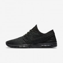 Nike SB Stefan Janoski Max Skateboarding Shoes For Men Black/Anthracite 138BPOTN