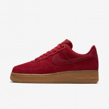 Nike Air Force 1 07 SE Lifestyle Shoes For Women Gym Red/Gum Light Brown/Speed Red 523YXKWQ
