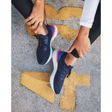 Nike Epic React Flyknit Running Shoes For Women College Navy/Racer Blue/Pink Blast 490YRVWD